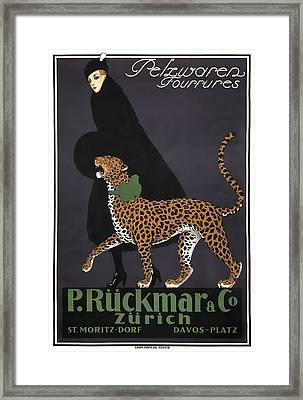 French Swiss Vintage Ad C. 1920 Framed Print