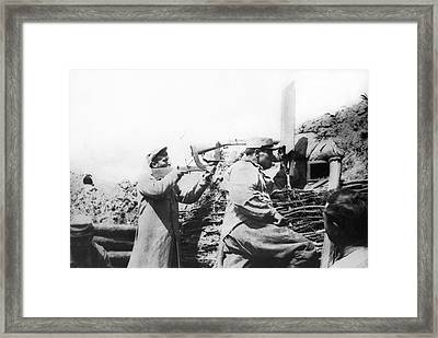 French Trench Periscope Framed Print by Underwood Archives