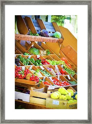 French Vegetable Market 2 Framed Print