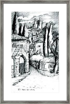 French Village Framed Print by Dan Earle