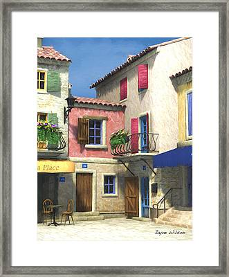 French Village Scene - Provence Framed Print