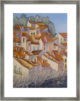 French Villlage Painting Framed Print