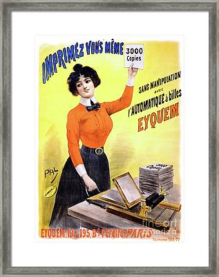 French Vintage Advertising Poster Restored Framed Print
