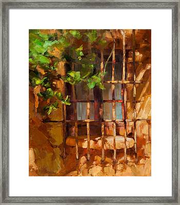 French Window Framed Print by Becky Joy