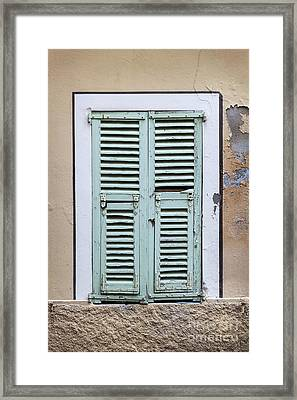 French Window With Shutters Framed Print by Elena Elisseeva