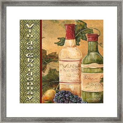 French Wine-jp3097 Framed Print by Jean Plout