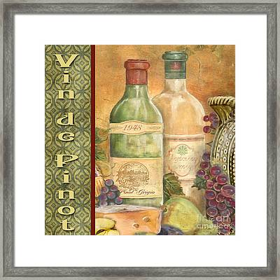 French Wine-jp3098 Framed Print by Jean Plout