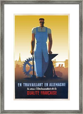 French Workers In Germany 1943 Framed Print