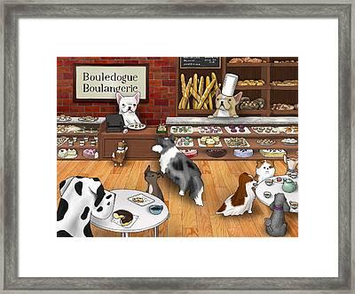 Frenchie Bakery Framed Print