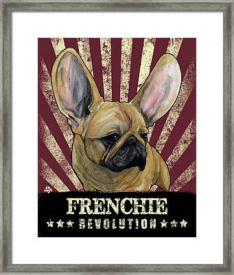 Frenchie Revolution Framed Print