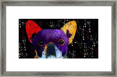 Frenchie Splash N Pop Framed Print