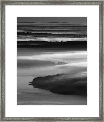 Frenchman's Bay Recursion Framed Print