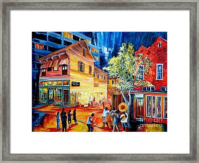 Frenchmen Street Funk Framed Print