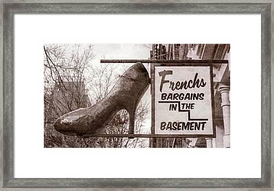 Frenchs Bargain Basement Framed Print by Stephen Stookey