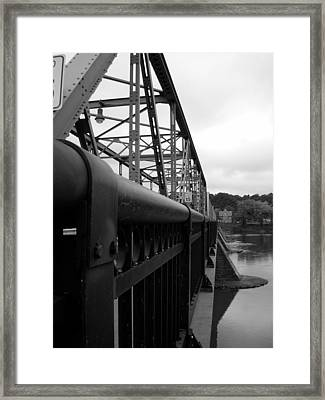 Frenchtown Bridge Framed Print by Amanda Vouglas
