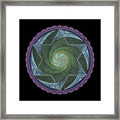 Framed Print featuring the painting Frequency Harmonizer by Keiko Katsuta