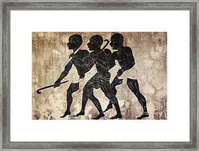 Fresco - Hunters Framed Print by Michal Boubin