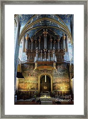 Fresco Of The Last Judgement And Organ In Albi Cathedral Framed Print by RicardMN Photography