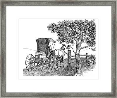 Fresh And Early Framed Print