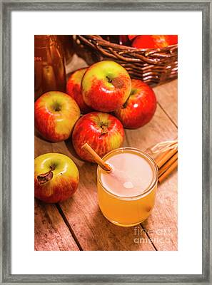 Fresh Apple Juice With Cinnamon Framed Print by Jorgo Photography - Wall Art Gallery