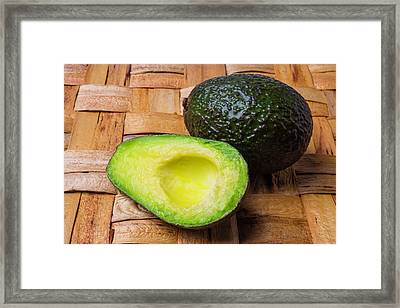 Fresh Avocado Framed Print