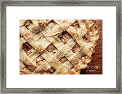 Fresh Baked Apple Pie Framed Print by Edward Fielding