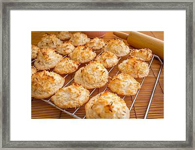 Fresh Baked Macaroons #1 Framed Print by Jon Manjeot