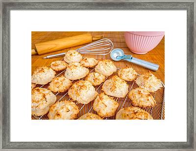 Fresh Baked Macaroons #2 Framed Print by Jon Manjeot