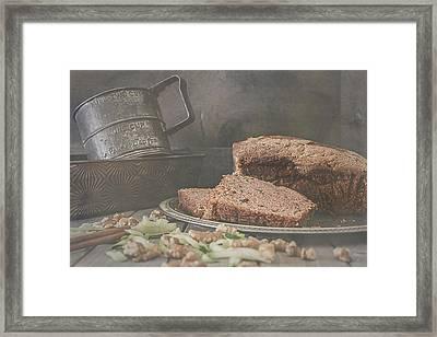 Fresh Baked Zucchini Bread Framed Print