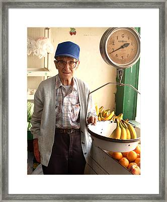 Fresh Bananas For Sale Framed Print by Don Wolf