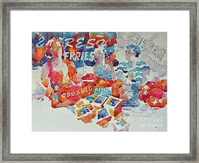 Fresh Berries Framed Print