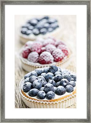 Fresh Berry Tarts Framed Print