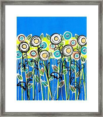 Fresh Blue Flowers Framed Print