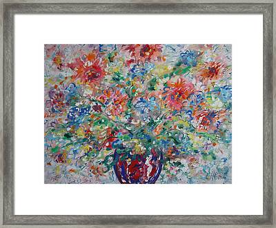 Fresh Bouquet Framed Print