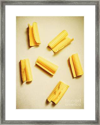 Fresh Butter Curls On Table Framed Print