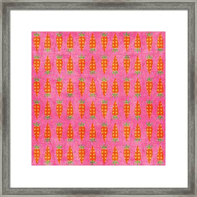Fresh Carrots Framed Print by Linda Woods