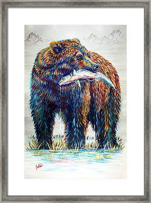 Fresh Catch Framed Print by Teshia Art