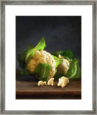 Fresh Cauliflower Framed Print