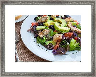 Fresh Chicken Salad With Avocado #1 Framed Print by Jon Manjeot