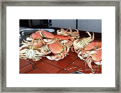 Fresh Cooked Crabs At Fishermans Wharf San Francisco California 7d14459 Framed Print