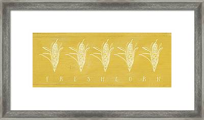 Fresh Corn- Art By Linda Woods Framed Print