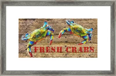 Fresh Crabs 2 Framed Print