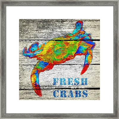Fresh Crabs Framed Print by Edward Fielding