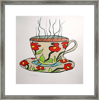 Framed Print featuring the painting Fresh Cup by John Williams