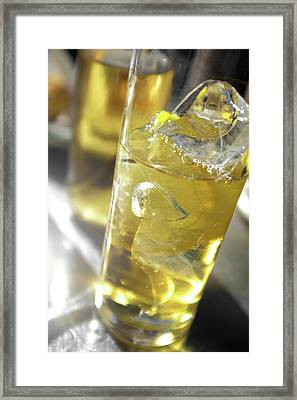 Fresh Drink With Lemon Framed Print by Carlos Caetano