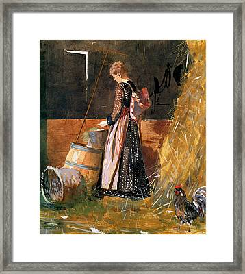 Fresh Eggs Framed Print by Winslow Homer