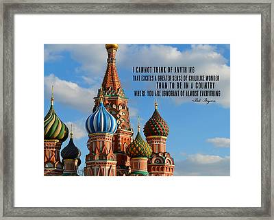 Fresh Eyes Quote Framed Print by JAMART Photography