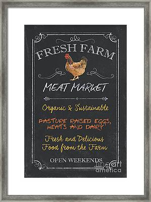 Fresh Farm Meat Framed Print by Debbie DeWitt