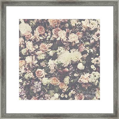 Fresh Flower Pattern Background Framed Print