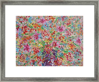Fresh Flowers. Framed Print